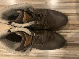 Mustang Shoes Basket à lacet brun noir-brun