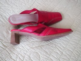 Schuhe, Pantoletten, Gr.37, rot