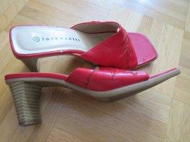 Schuhe, Pantoletten, Gr.37, rot, für Sommer
