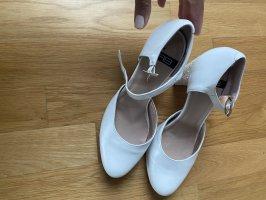 Schuhe pumps 39 weiß Glitzer