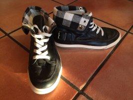 Schuhe schwarz weiß kariert, Gr. 36