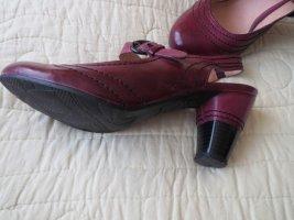 Schuhe, Slingbacks, Gr.37, aubergine-schwarz