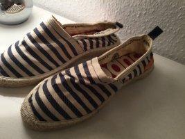 Superdry Espadrille Sandals dark blue-natural white