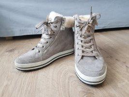 Marc Cain Aanrijg laarzen wit-lichtgrijs