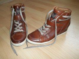 Schuhe von Paul Green in Gr. 38,5 braun mit Keilabsatz