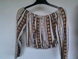 Schulterfreie langärmellige Bluse