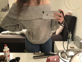 H&M Wool Sweater light grey