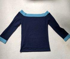 Schulterfreier Pullover#Knöpfe