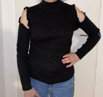 Schulterfreier Pullover mit Rollkragen