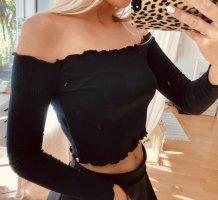 PrettyLittleThing Cropped Shirt black
