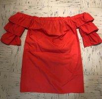 Amisu Abito senza spalle rosso neon