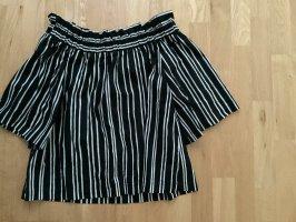 H&M Off-The-Shoulder Top black-white