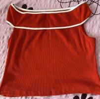 Zara Koszula typu carmen ciemnoczerwony