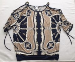 schulterfreies Shirt von CACHÈ mit Kettenelementen