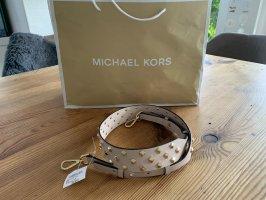 Michael Kors Sac bandoulière rose chair cuir