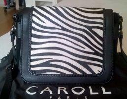 Caroll Torba na ramię czarny-srebrny Skóra