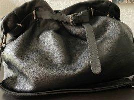 Schultertasche von ABRO, schwarz, Leder