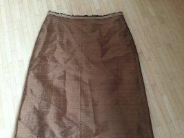 Dorothee Schumacher Falda de seda coñac-marrón