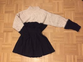 H&M Wool Sweater black-natural white