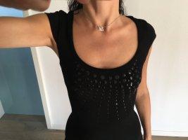 Schwarz gestrickt Cocktail-Kleid. Promod