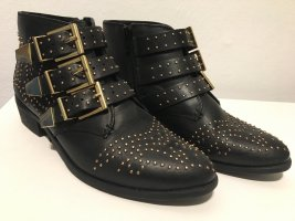 Bronx Booties black-gold-colored