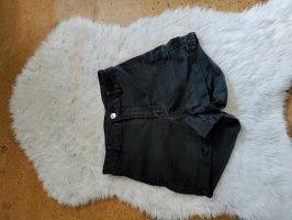 schwarz-graue Highwaist Shorts