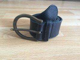 Hallhuber Cintura di pelle marrone scuro