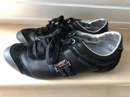 schwarz silberne Sneakers / Halbschuhe / Schnürschuhe von Esprit - Gr. 39