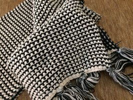 Only Knitted Scarf black-natural white