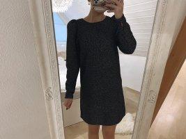 Schwarz weiß gepunktetes Minikleid |H&M