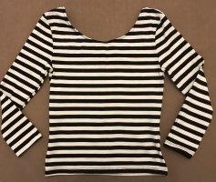 H&M Divided Camisa tipo Carmen blanco-negro