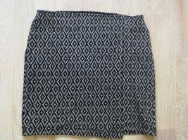 Hollister Spódnica ze stretchu czarny-biały Bawełna