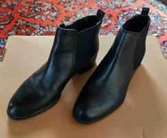 Schwarze ankle boots , Leder