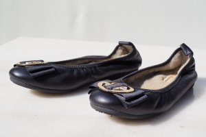 La Ballerina Ballerines pliables noir cuir
