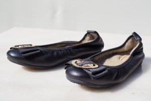 La Ballerina Foldable Ballet Flats black leather