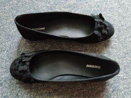 schwarze Ballerinas mit Blumen - Graceland - Größe 38
