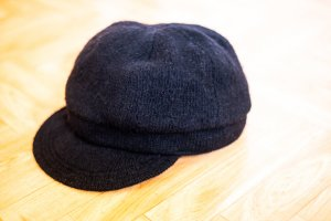 H&M Divided Baker's Boy Cap black cotton