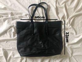 schwarze basic Handtasche