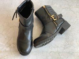 Schwarze biker Boots Stiefel