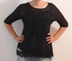 Schwarze Bluse * s.Oliver * Gr. 36 * Zweilagig