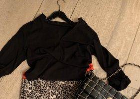 Schwarze Bluse zum Schlüpfen von Zara Gr. M