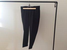 H&M Pantalone a pieghe nero Tessuto misto