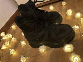 Schwarze Catwalk boots mit super hohem absatz