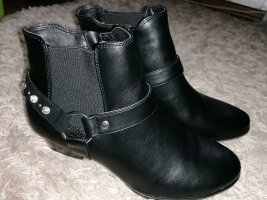 Schwarze Cowboy-Stiefeletten