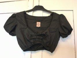 Schickeria Trachten Blusa tradizionale nero