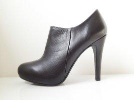Schwarze Echtleder Ankle-Boots