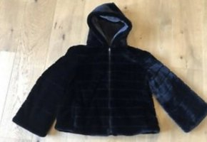 Fur Jacket black-grey