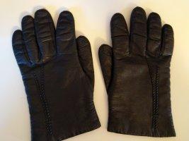 Leren handschoenen zwart-grijs