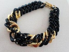 Schwarze Gold Massive Kette Halsschmuck Halskette Schmuck