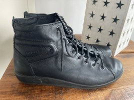 Schwarze Halbschuhe / Sneaker Leder von Ecco, Gr. 38